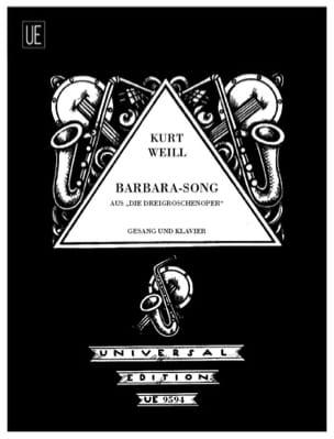 Kurt Weill - Barbara-Song. Die Dreigroschenoper - Partition - di-arezzo.com