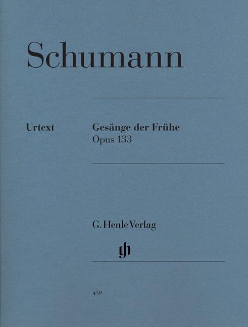 Gesänge Der Frühe Opus 133 - SCHUMANN - Partition - laflutedepan.com