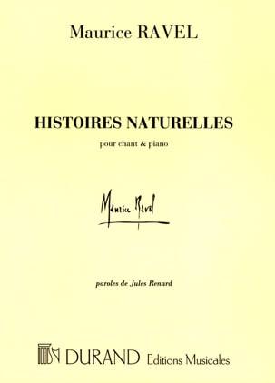 Histoires Naturelles RAVEL Partition Mélodies - laflutedepan