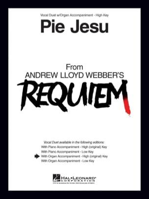 Pie Jesu. Voix hautes Lloyd Webber Andrew Partition laflutedepan