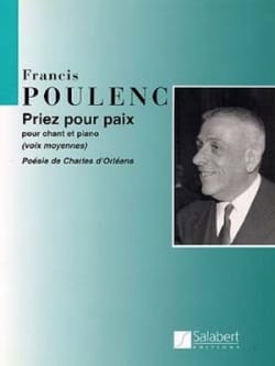 Francis Poulenc - Pray for peace - Partition - di-arezzo.com