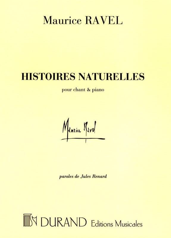 Histoires Naturelles - RAVEL - Partition - Mélodies - laflutedepan.com