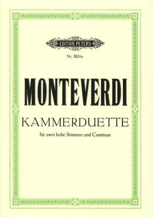 6 Kammer-Duette MONTEVERDI Partition Duos - laflutedepan
