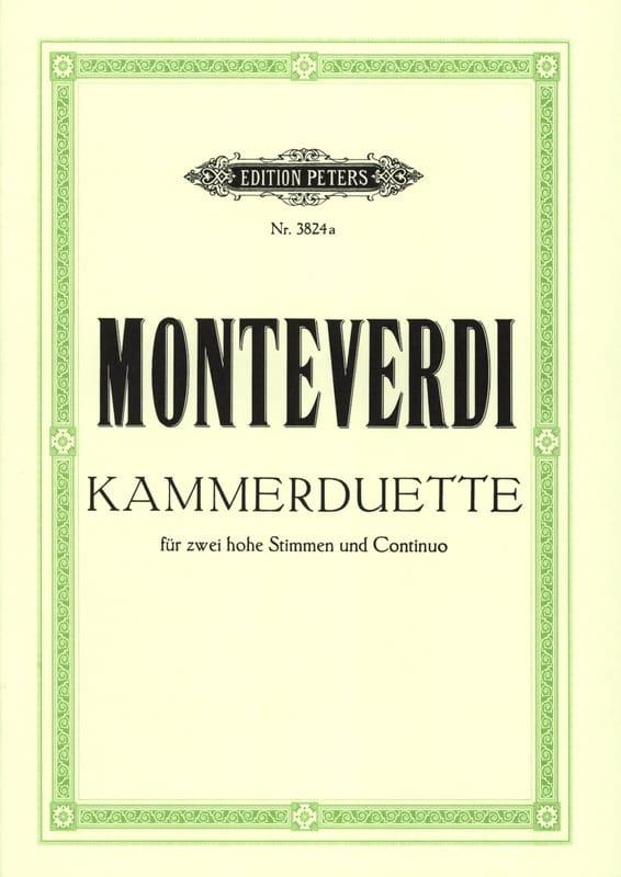6 Kammer-Duette - MONTEVERDI - Partition - Duos - laflutedepan.com
