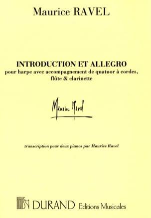 Introduction et Allegro. 2 Pianos RAVEL Partition Piano - laflutedepan