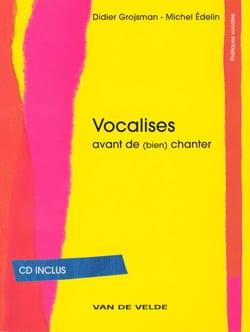 Vocalises Grojsman Didier / Edelin Michel Livre laflutedepan
