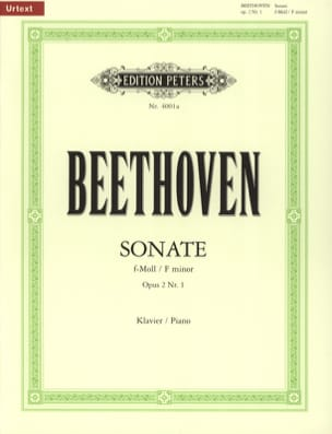 Sonate pour piano n° 1 en fa mineur Opus 2-1 BEETHOVEN laflutedepan