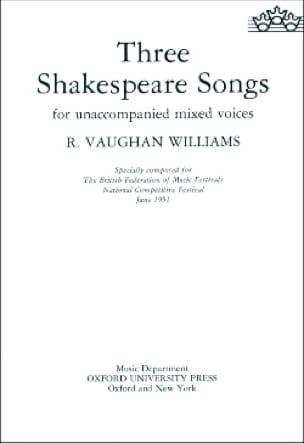 3 Shakespeare Songs - WILLIAMS VAUGHAN - Partition - laflutedepan.com