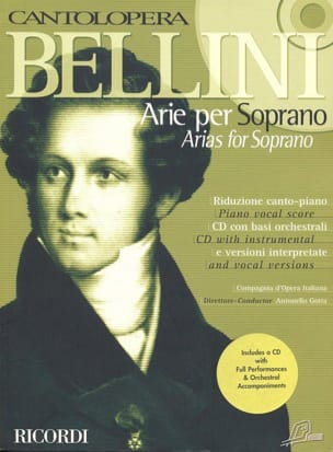 Arie Per Soprano BELLINI Partition Opéras - laflutedepan