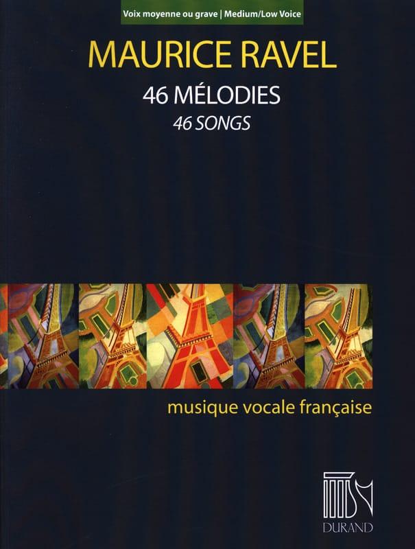 46 mélodies. Voix moyenne-grave - RAVEL - Partition - laflutedepan.com