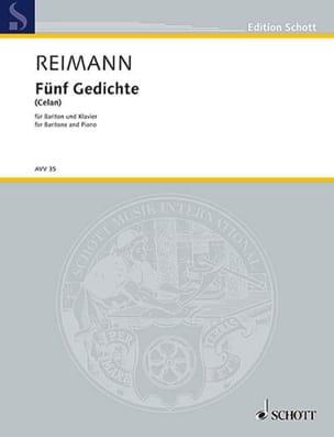 5 Gedichte Aribert Reimann Partition Mélodies - laflutedepan