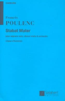Stabat Mater. Choeur Hommes POULENC Partition Chœur - laflutedepan