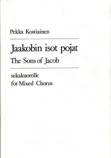 Jaakobin Isot Pojat - Pekka Kostiainen - Partition - laflutedepan.com