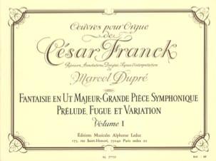 Oeuvres Pour Orgue Volume 1 Franck César / Dupré Marcel laflutedepan