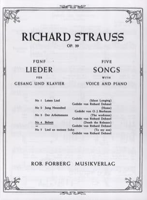 Befreit Op. 39-4. Voix Grave Richard Strauss Partition laflutedepan