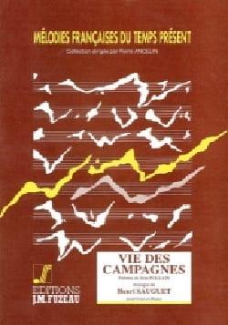 Vie des Campagnes Henri Sauguet Partition Mélodies - laflutedepan