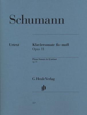 Sonate pour piano en fa dièse mineur Opus 11 SCHUMANN laflutedepan