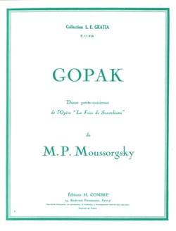 Gopak MOUSSORGSKI Partition Piano - laflutedepan