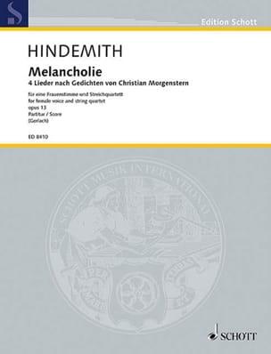 Melancholie Op. 13 HINDEMITH Partition laflutedepan
