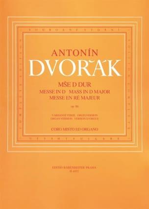 DVORAK - Mass in Major Major Opus 86 - Partition - di-arezzo.co.uk