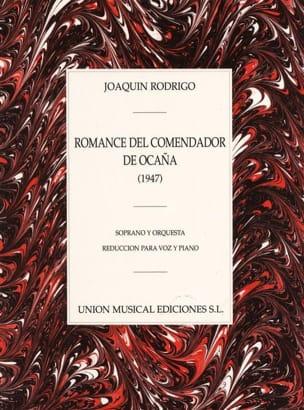 Romance Del Comendador de Ocagna Rodrigo Partition laflutedepan