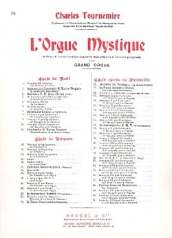 Trinité. Orgue Mystique 26 Charles Tournemire Partition laflutedepan
