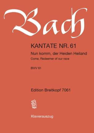 Cantate 61 Nun Komm, Der Heiden Heiland BACH Partition laflutedepan