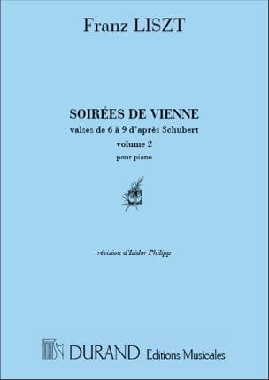 Soirées de Vienne Volume 2 LISZT Partition Piano - laflutedepan