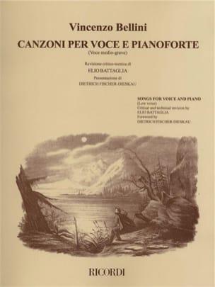 Canzoni Per Voce E Pianoforte. Voix Moyenne BELLINI laflutedepan