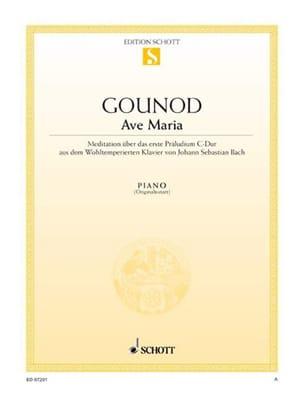 Ave Maria. Piano Gounod Charles / Bach Jean-Sébastien laflutedepan