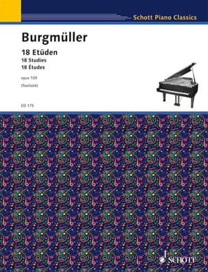 18 Etüden Opus 109 Frédéric Burgmuller Partition Piano - laflutedepan