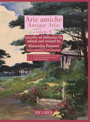 Arie Antiche Volume 5 + 2 CD Alessandro Parisotti laflutedepan