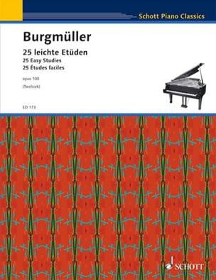 25 Etudes Faciles Opus 100 Frédéric Burgmuller Partition laflutedepan