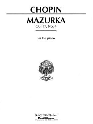 Mazurka n° 13 en la mineur Opus 17-4 CHOPIN Partition laflutedepan