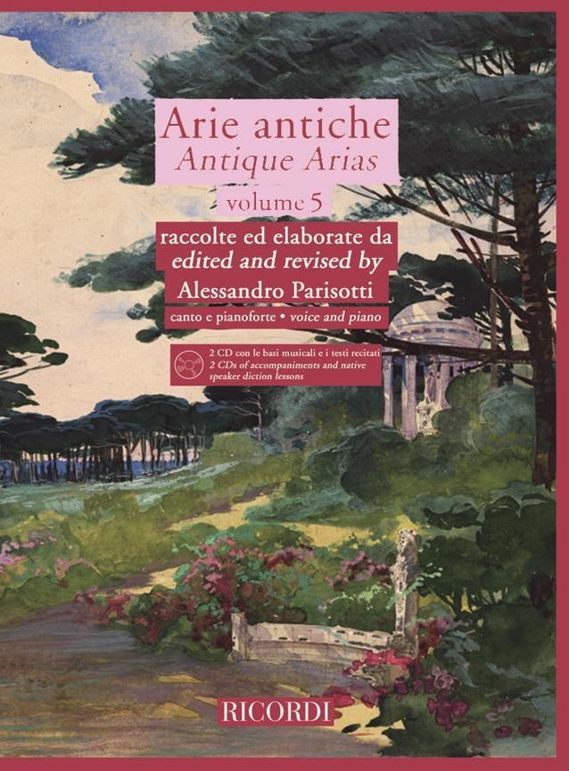 Arie Antiche Volume 5 + 2 CD - Alessandro Parisotti - laflutedepan.com