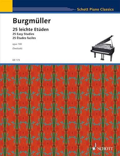 25 Etudes Faciles Opus 100 - Frédéric Burgmuller - laflutedepan.com