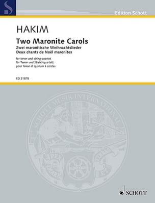 2 Maronite Carols - Naji Hakim - Partition - laflutedepan.com