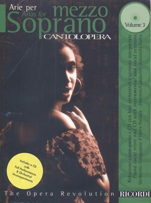 Arie Per Mezzo-Soprano Volume 3 Partition Opéras - laflutedepan