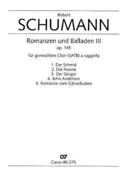 Romanzen Und Balladen 3 Opus 145 SCHUMANN Partition laflutedepan