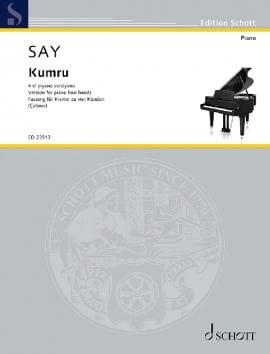 Kumru op. 12-2. 4 Mains Fazil Say Partition Piano - laflutedepan