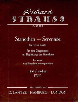 Ständchen Op. 17-2. Voix Moyenne Richard Strauss laflutedepan