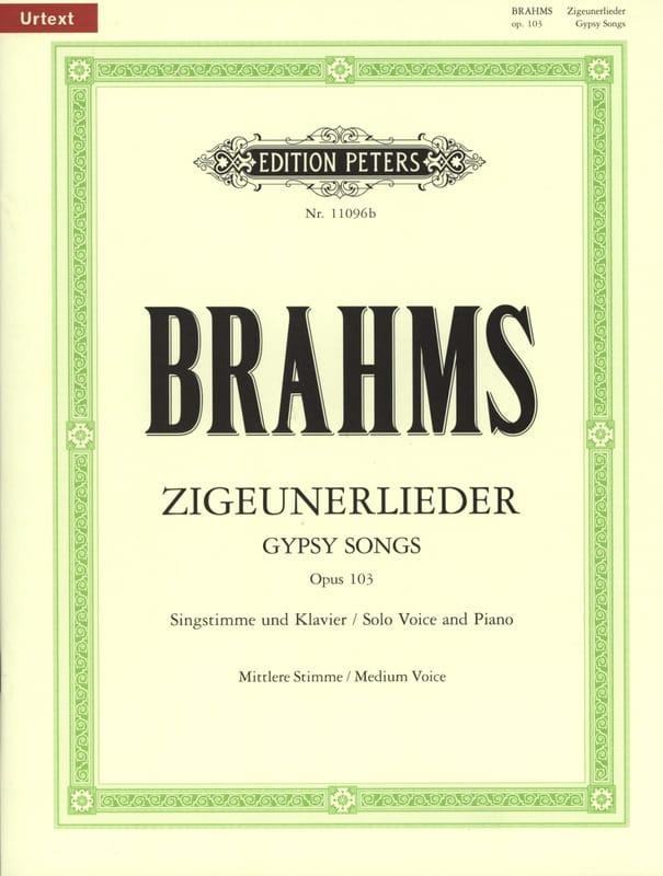 8 Zigeunerlieder Opus 103. Voix Moyenne - BRAHMS - laflutedepan.com