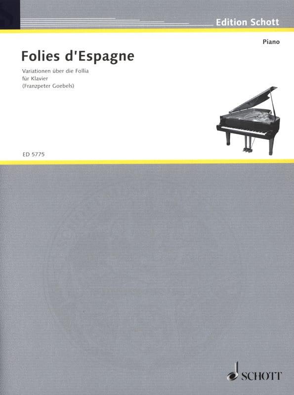 Folies d'Espagne - Partition - Clavecin - laflutedepan.com