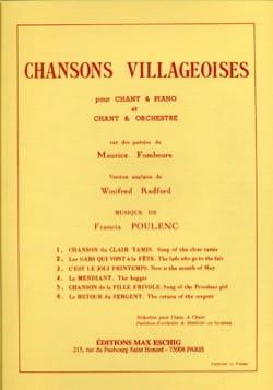 6 Chansons Villageoises POULENC Partition Mélodies - laflutedepan