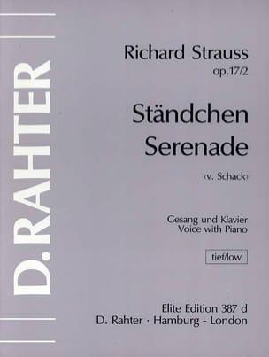 Ständchen. Op. 17-2. Vx Grave Richard Strauss Partition laflutedepan