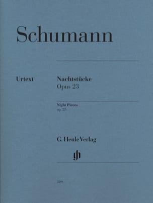 Nachtstücke Opus 23 SCHUMANN Partition Piano - laflutedepan