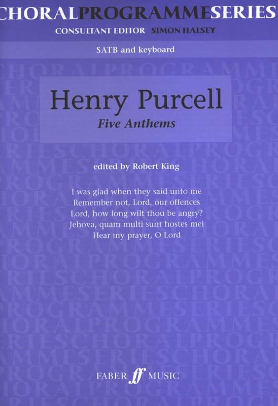 5 Anthems - PURCELL - Partition - Chœur - laflutedepan.com