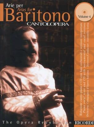 Arie Per Baritono Volume 4 Partition Opéras - laflutedepan