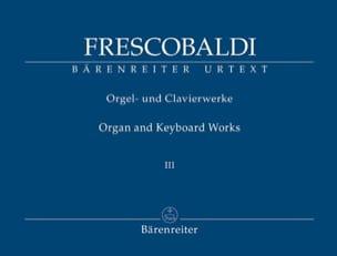 Oeuvres pour Orgue et Clavier. Volume 3 FRESCOBALDI laflutedepan