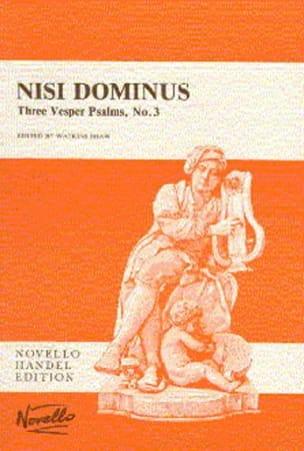 Nisi Dominus - HAENDEL - Partition - Chœur - laflutedepan.com